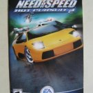 Booklet Manual ONLY for Hot Pursuit 2 Need For Speed EA