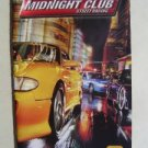 Booklet Manual ONLY for Midnight Club Street Racing