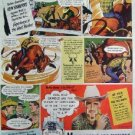 COWBOY RODEO  K ROBERTS CARTOON CAMEL CIGARETTE 1948 AD