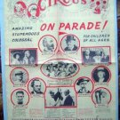 Rare 1954 Circus On Parade Advertising Program Flyer