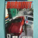 Video Booklet Manual ONLY Xbox Burnout
