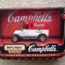 1999 MATCHBOX CAMPBELLS 1912 FORD MODEL T TRUCK VAN MIB