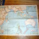 National Geographic Map 1941 Indian Ocean Australia NZ
