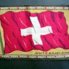 Circa 1900 Switzerland Tobacco Nation Flag Felt Blanket