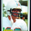 1981 Topps Football Bob Griese Card #482 Miami Dolphins