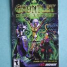 Video Booklet Manual ONLY for Playstation Gauntlet Dark