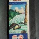 1956 CHEVRON Gasoline Road Touring Map Idaho