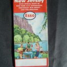 1956 ESSO Gas Road Map New Jersey & New York City appro