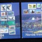 Lot (2) Postcards 1994 Olympic Norske frimerker