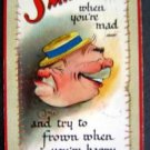 1910 TUCKS SMILE Dwig ~ artist signed Comic Postcard