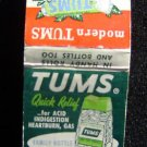 Tums Quick Relief Acid Heartburn Gas Matchbook