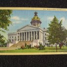 State Capitol Columbia, South Carolina Linen Postcard