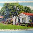 Tallahassee Motor Hotel Florida Vintage Linen Postcard