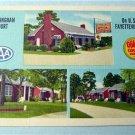 Buckingham Court Fayetteville, N C Linen Postcard