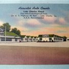 Assunto's Auto Court Lake Charles,  La. Linen Postcard