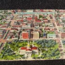 Aerial View of Columbia South Carolina Linen Postcard