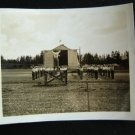 WWII Base Soldiers Troop Drill Exercise Tent Flag Photo