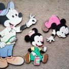 Mickey Mouse Disney Cardboard Wall Hangings Group of 3
