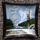 1964-65 New York Worlds Fair Unisphere Black Glass 2.5""