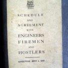 1920 Engineers Fireman Hostlers Schedule Agree Railroad