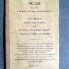 1930 NEW YORK CENTRAL Air Brakes Air Signal Rules Book