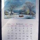 1969 Currier & Ives Calendar Travelers Ins Hartford Ct