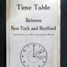 May 27 1929 HARTFORD LINE Time Table New York Hartford