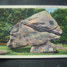 Balance Rock  Pittsfield  Mass  Postcard