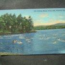 Bathing Beach Onata Lake Pittsfield~Mass Postcard