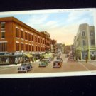 Early 1951 East Main Street Waterbury, Conn. Postcard