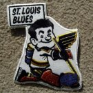 """St Louis Blues Caricature Hockey Patch 7"""" NM"""