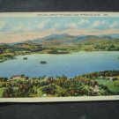 Airplane View Pontoosuc Lake Pittsfield  Mass Postcard