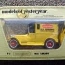 Matchbox Models Yesteryear 1927 Talbot Delivery Truck