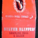 Silver Slipper Gambling Hall Saloon Las Vegas Matchbook