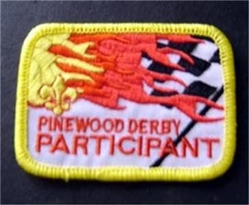 """Pinewood Derby Participant Boy Scout BSA Patch 3"""" Checkered Flag Design"""