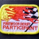 "Pinewood Derby Participant Boy Scout BSA Patch 3"" Checkered Flag Design"