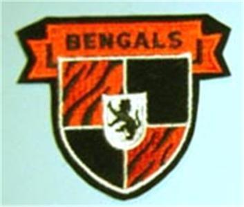 "Cincinnati Bengals NFL Football 3"" Cloth Crest Shield Patch"