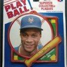 1990 NY Mets Baseball Play Ball Plaque D Strawberry