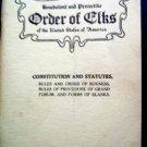 1919 Order of Elks Constitution & Statutes Booklet