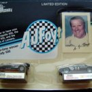 Racing Champions A J Foyt 2 Die Cast Cars # 14 and 1 Trading Card in Package
