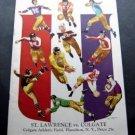 Vintage NCAA College Football Program Colgate Univ vs St Lawrence 1941