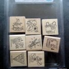 Stampin' Up! Rubber Stamps Mounted Girlfriend Accessories Set of 8 MIP Scraping
