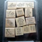 Stampin' Up! Rubber Stamps Mounted Steppin' Style Set of 13 MIP Scrapbooking
