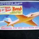 Vintage 1950s Bond Bread Supersonic Plane Advertising  Ink Blotter Unused