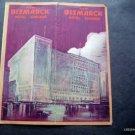 1920s ~ BISMARCK HOTEL RESTAURANT Chicago Illinois Advertising Brochure w/map