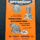 1958 Boston Gears Optimount Reductors Ratiomotors Catalog OP-1