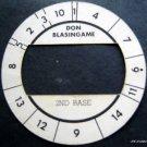 Cadaco All-Star Baseball Game Disk Don Blasingame 2nd Base
