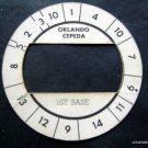 Cadaco All-Star Baseball Game Disk Orlando Cepeda 1st Base