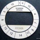 Cadaco All-Star Baseball Game Disk Warren Spahn Pitcher