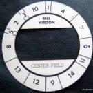 Cadaco All-Star Baseball Game Disk Bill Virdon Center Field